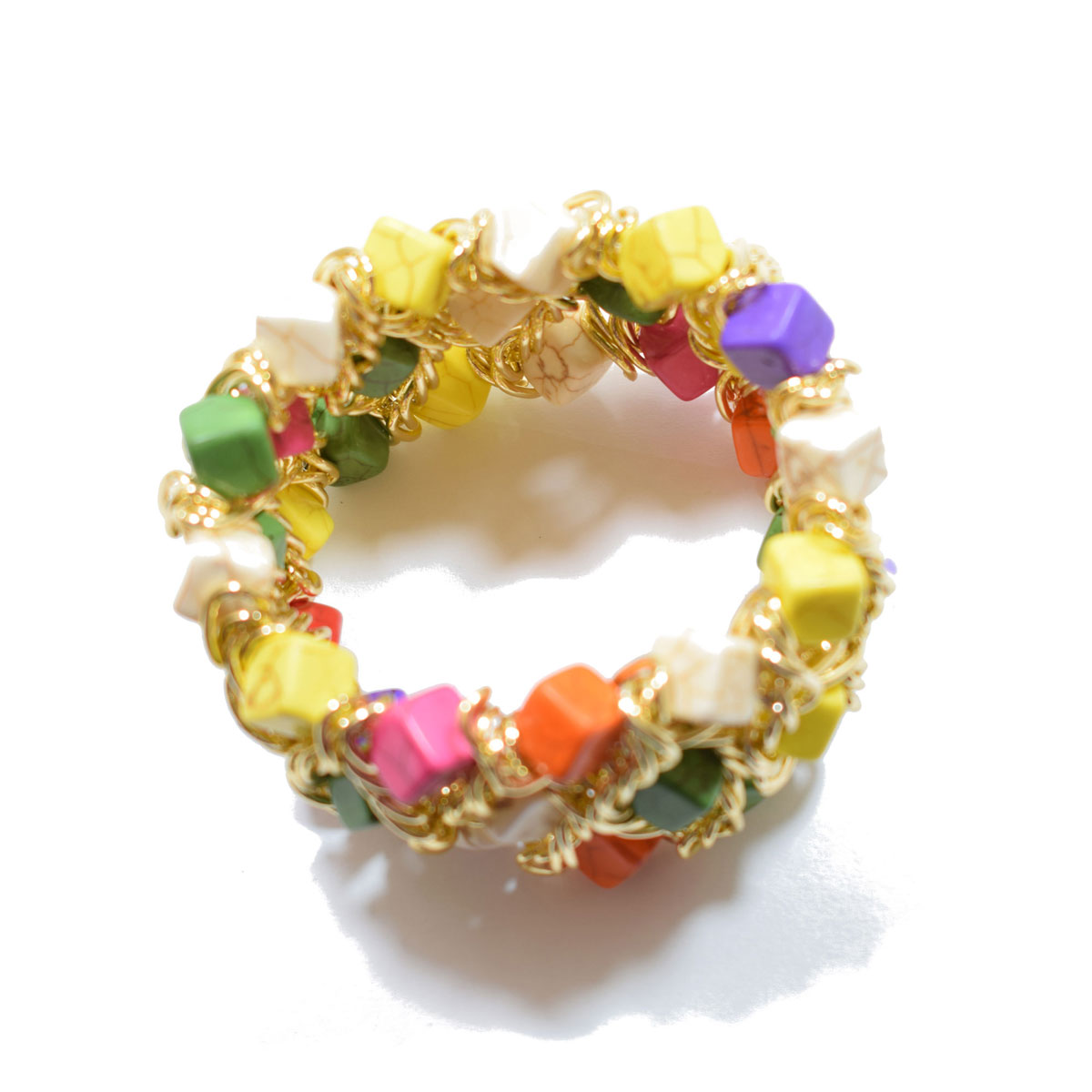 beaded lemon vines wired img bracelet multi colored