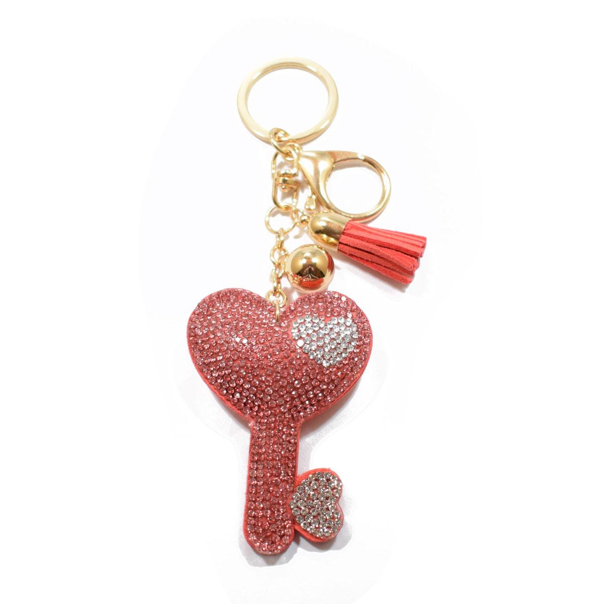 Μπρελόκ φο μπιζού (faux bijoux) κλειδί σε ροδί χρώμα με κρυστάλλους  (BZ-KC-00006) 51c5a1f5b7d