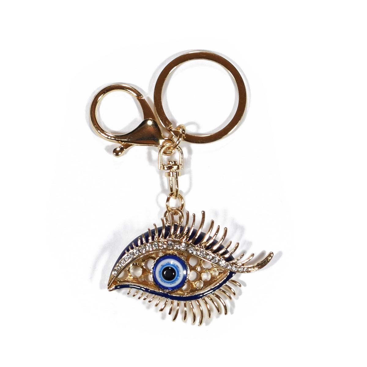 Μπρελόκ φο μπιζού (faux bijoux) μάτι με κρυστάλλους (BZ-KC-00029) d2173328e27
