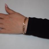 Βραχιόλι ατσάλινο (stainless steel) αλυσίδα σε ροζ χρυσό χρώμα BZ-BR-00451 Εικόνα 2