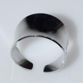 Δαχτυλίδι ατσάλινο (stainless steel) σε ασημί χρώμα BZ-RG-00432 Εικόνα 2