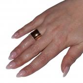 Δαχτυλίδι ατσάλινο (stainless steel) σε ροζ χρυσό χρώμα BZ-RG-00433 Εικόνα 4