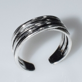 Δαχτυλίδι φο μπιζού ορείχαλκος αντικέ σε ασημί χρώμα BZ-RG-00434 Εικόνα 3
