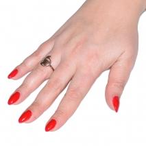 Δαχτυλίδι ατσάλινο (stainless steel) πεταλούδα σε ροζ χρυσό χρώμα BZ-RG-00274 εικόνα 2 φορεμένο