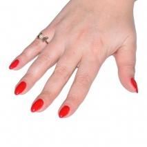 Δαχτυλίδι ατσάλινο (stainless steel) πεταλούδα σε ροζ χρυσό χρώμα με πέρλες BZ-RG-00294 εικόνα 2 φορεμένο