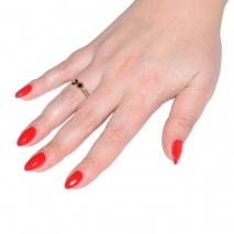 Δαχτυλίδι ατσάλινο (stainless steel) σε ροζ χρυσό χρώμα με κρυστάλλους BZ-RG-00298 εικόνα 2 φορεμένο
