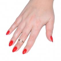 Δαχτυλίδι ατσάλινο (stainless steel) κύκλος σε ροζ χρυσό χρώμα BZ-RG-00301 εικόνα 2 φορεμένο