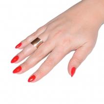 Δαχτυλίδι ατσάλινο (stainless steel) σε ροζ χρυσό χρώμα BZ-RG-00305 εικόνα 2 φορεμένο