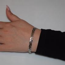 Βραχιόλι ατσάλινο (stainless steel) αλυσίδα σε ασημί χρώμα BZ-BR-00450 Εικόνα 2