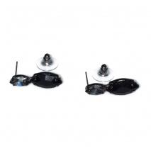 Κολιέ φο μπιζού statement σετ με σκουλαρίκια σε μαύρο χρώμα με μαύρους κρυστάλλους BZ-NK-00388 Εικόνα Σκουλαρίκια
