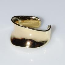 Δαχτυλίδι φο μπιζού ορείχαλκος καμπύλη σε χρυσό χρώμα BZ-RG-00438 Εικόνα 2