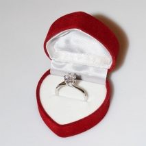 Handmade wedding ring with sterling silver platinum plating and precious stones (zircon) IJ-010478-S in gift box