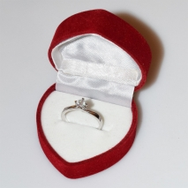 Handmade wedding ring with sterling silver platinum plating and precious stones (zircon) IJ-010486-S in gift box
