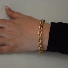 Βραχιόλι ατσάλινο (stainless steel) αλυσίδα σε ροζ χρυσό χρώμα BZ-BR-00448 Εικόνα 2