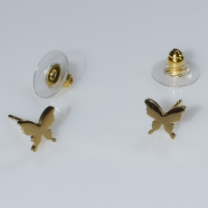 Earrings stainless steel butterflies in gold color BZ-ER-00579 Image 2