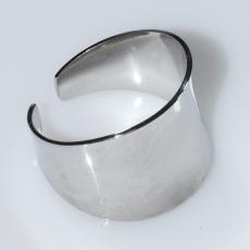 Δαχτυλίδι ατσάλινο (stainless steel) σε ασημί χρώμα BZ-RG-00432 Εικόνα 3