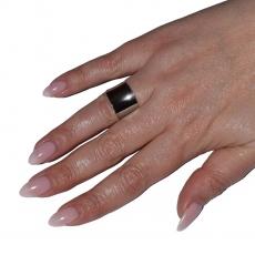 Δαχτυλίδι ατσάλινο (stainless steel) σε ασημί χρώμα BZ-RG-00432 Εικόνα 4
