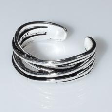 Δαχτυλίδι φο μπιζού ορείχαλκος αντικέ σε ασημί χρώμα BZ-RG-00434 Εικόνα 2