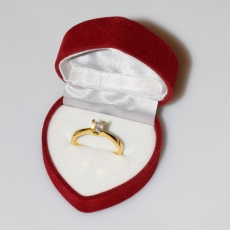 Handmade wedding ring with sterling silver gold plating and precious stones (zircon) IJ-010479-G in gift box