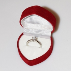 Handmade wedding ring with sterling silver platinum plating and precious stones (zircon) IJ-010479-S in gift box