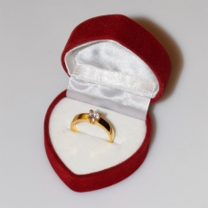 Handmade wedding ring with sterling silver gold plating and precious stones (zircon) IJ-010480-G in gift box