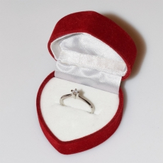 Handmade wedding ring with sterling silver platinum plating and precious stones (zircon) IJ-010484-S in gift box