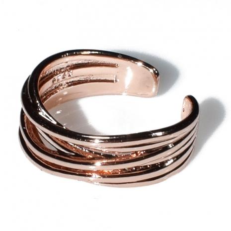 Δαχτυλίδι φο μπιζού ορείχαλκος σε ροζ χρυσό χρώμα BZ-RG-00435 Εικόνα 2