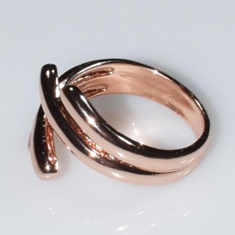 Δαχτυλίδι φο μπιζού ορείχαλκος σε ροζ χρυσό χρώμα BZ-RG-00439 Εικόνα 2
